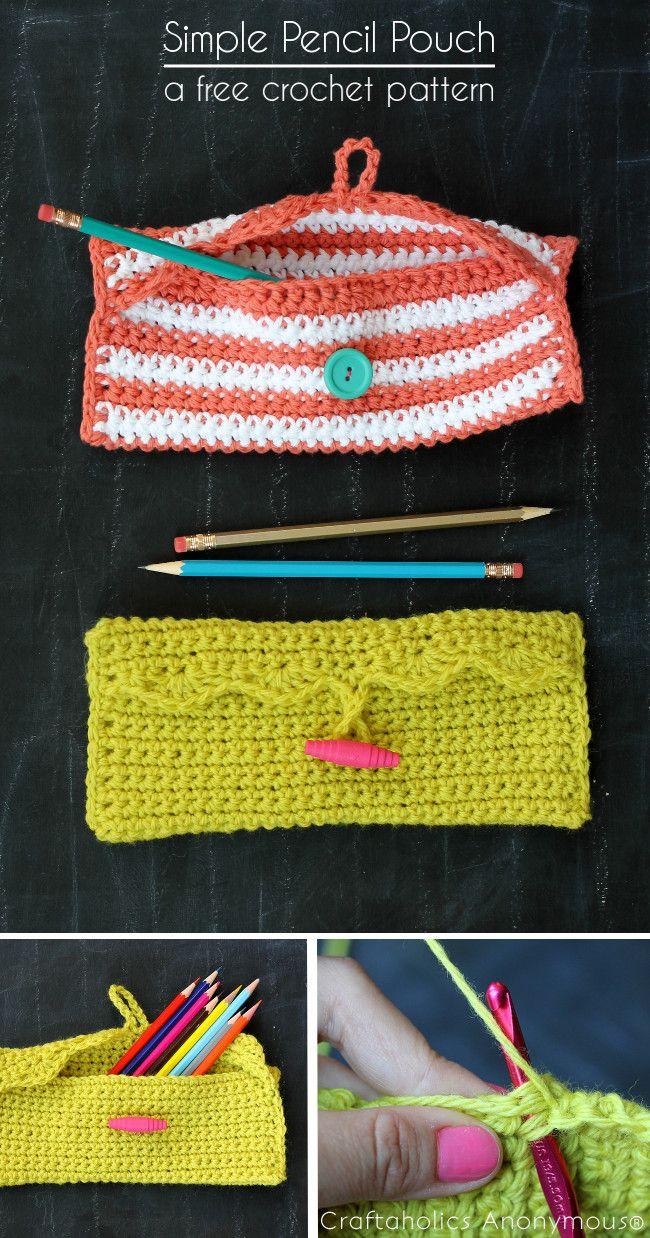 Craftaholics Anonymous® | Simple Crochet Pencil Pouch