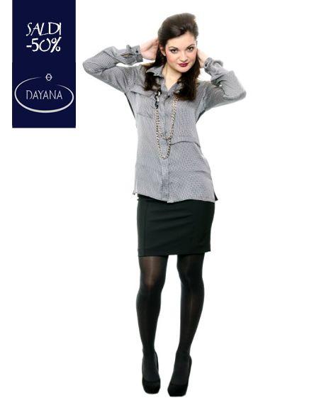 """CAMICIA DAYANA MICROFANTASIA COLLEZIONE AI 2013/14 """"SALDI -50%""""  #fashion #moda #sale #saldi #shopping #fw #woman #madeitaly #curvy #casual  Camicia bitessuto, Vestibilità ampia, Due tasche frontali, Dietro in maglina di viscosa, Made in Italy.  http://www.dayanaboutique.com/shop/it/camicia/21-CAMICIA-DAYANA-MICROFANTA.html"""