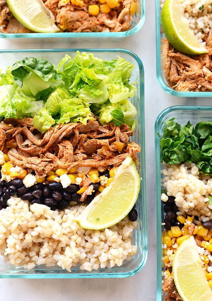 Prep a week's worth of lunches by making these carnitas bowls. | 7 Meal-Prep…