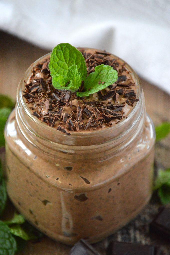 MINT CHOCOLATE CHIA SEED PUDDING - amazing simple dairy-free recipe via @whattheforkblog