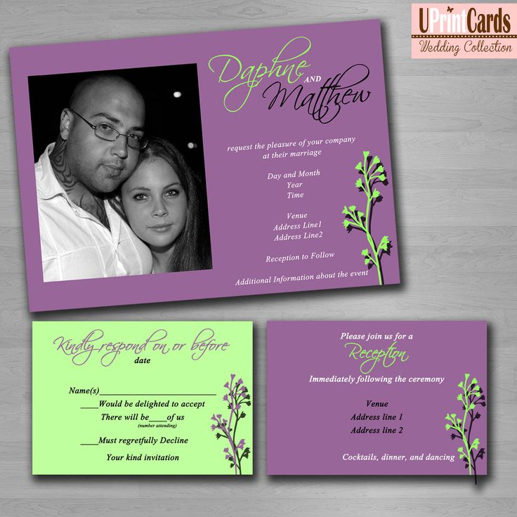 Homemade Wedding Invitation Template wedding