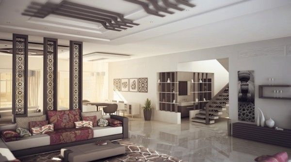 Living room design with darker elements