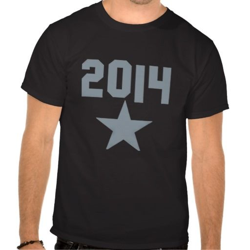 2014 year number with a star shirt . Get it on : http://www.zazzle.com/2014_year_number_with_a_star_shirt-235086697296641404?view=113383014369852142&rf=238054403704815742