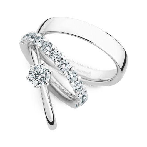 #BlingBling  Klassische, leuchtende Traumringe aus Weißgold und Diamanten