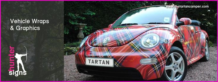 Tartan Volkswagen Beetle,vehicle wraps in tartan vinyl | Plaid! | Wedding car hire, Tartan ...