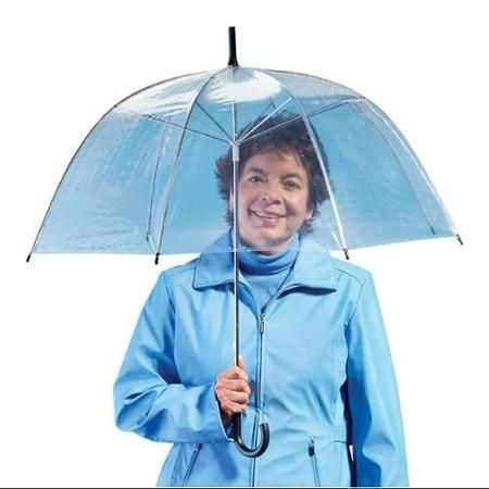 Miles Kimball   Clear Dome Umbrella - Walmart.com