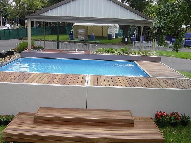 17 best ideas about concrete pool on pinterest beach for Best looking above ground pools