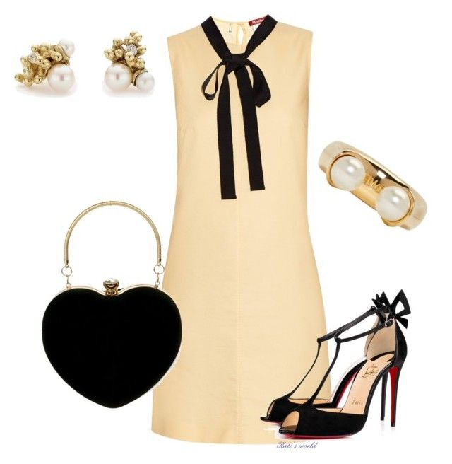"""dress2225"" by k-meszaros on Polyvore featuring MaxMara, Christian Louboutin, Ruth Tomlinson and Chloé"
