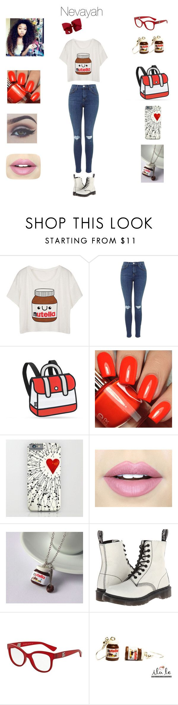 """Nevayah"" by neoncupcakes23 ❤ liked on Polyvore featuring JumpFromPaper, Fiebiger, Bellezza, Dr. Martens and Dolce&Gabbana"