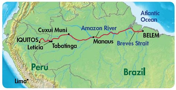 map of amazon river  Google Search  kids need to know