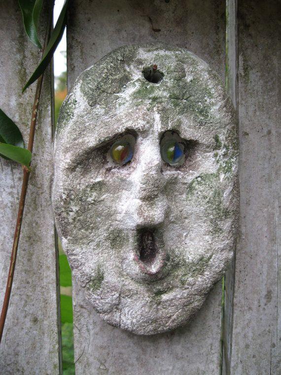 Attractive Garden Face Garden Art Garden Decor Garden Stone By Whimsytwo