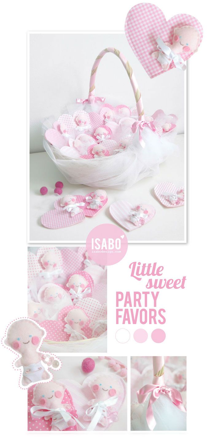 isabo, baptism party favor, felt, baby, bomboniera battesimo, porta confetti