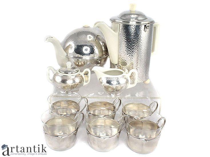 set complet Art Deco - Bauhaus, pentru servirea ceaiului și a cafelei, atelier WMF / Art Deco complete set -  Bauhaus, for tea and coffee, WMF workshop