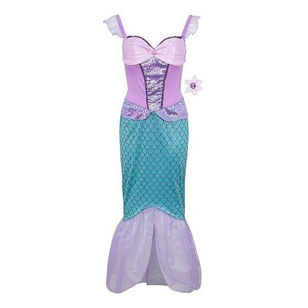 George Disney The Little Mermaid Adult Fancy Dress Costume ($28) ❤ liked on Polyvore featuring costumes, lilac, princess costumes, party halloween costumes, little mermaid costume, adult mermaid costume and adult ariel costume