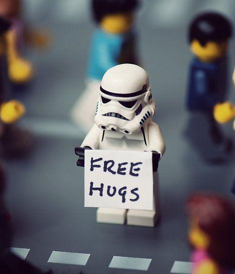 Free Stormtrooper hugs.