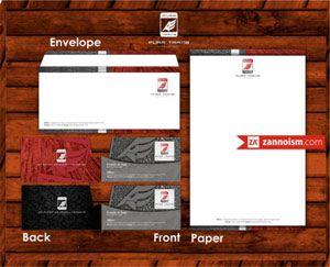 Jasa Desain Grafis zannoism.com, Jasa desain kartu nama stationery zannoism.com