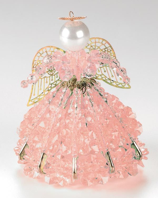 Safety Pin Angel Patterns   ... Safety Pin Angel Kit - OCTOBER / TOURMALINE - - Angel Doll Kits