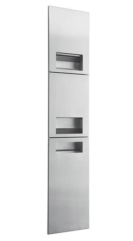 Asciuga mani automatico / da incasso / con contenitore per rifiuti integrato / con distributore di carta - L-M8910 - Lovair