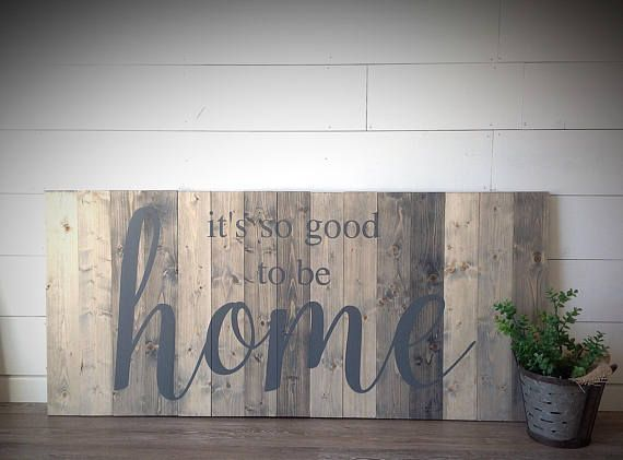 it's so good to be home, LARGE wood sign, Farmhouse sign, home, home sign, farmhouse decor, custom made sign measures 52x24 #Promotion, #PaidAd, #ad, #affiliatelink