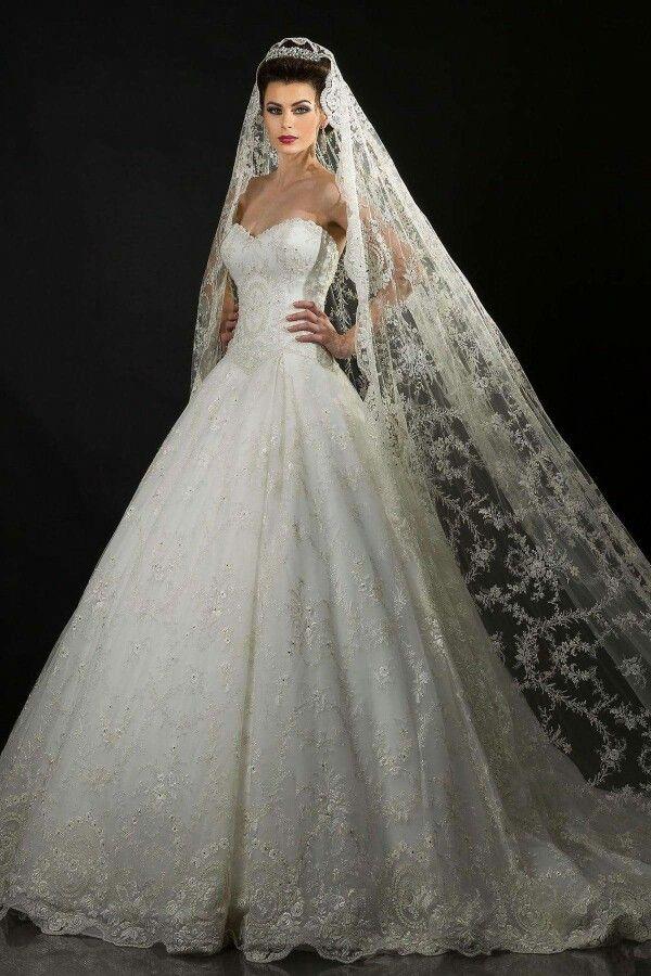 Niet zozeer de jurk maar de sluier is wel erg mooi