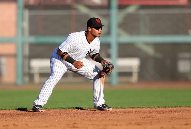 4. How deep will the Yankees dive into that newly improved farm system?  Image:      Infielder Gleyber Torres.  -  5 Biggest Trade Deadline Questions  -  June 8, 2017