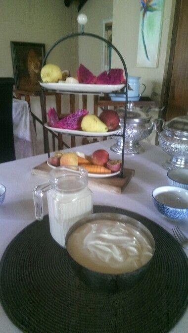 A beautiful, healthy, breakfast at Maqueda Lodge, Marloth Park, Mpumalanga.