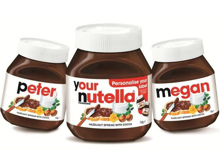 Stop everything. Personalised Nutella Jars are here. #nutella