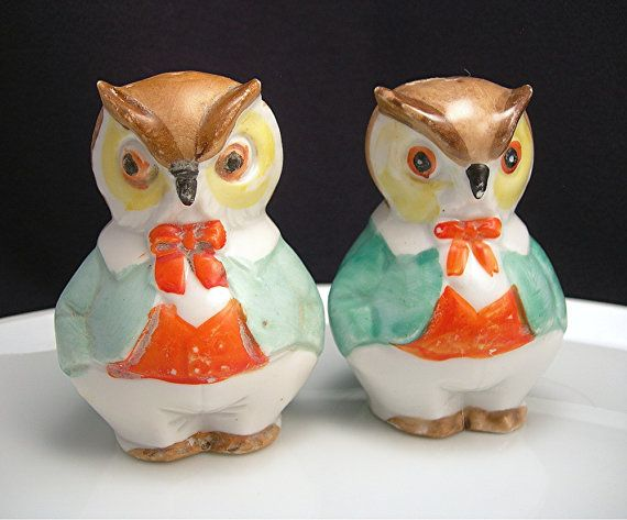 1000 images about salt pepper shakers on pinterest - Owl salt and pepper grinders ...