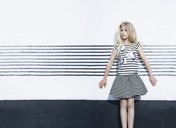 A dressier style in monochrome for Molo girls fashion spring 2015