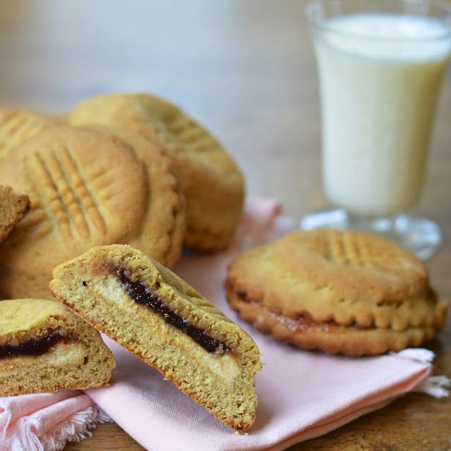 ... Stuffed Peanut Butter and Jelly Cookies (Roll out peanut butte
