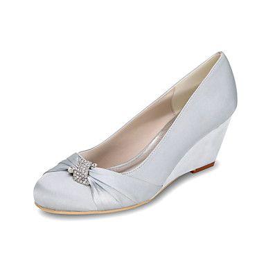Women's+Heels+Spring+/+Summer+/+Fall+Wedges+/+Heels+/+Round+Toe+Silk+Wedding+/+Party+&+Evening+–+USD+$+34.19