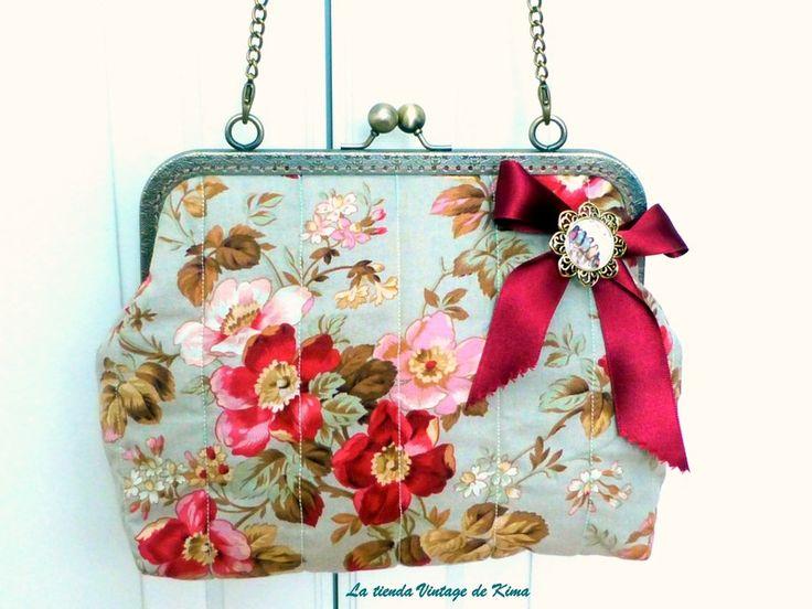 Bolso con boquilla - Romantic antique - de La tienda Vintage de Kima por DaWanda.com