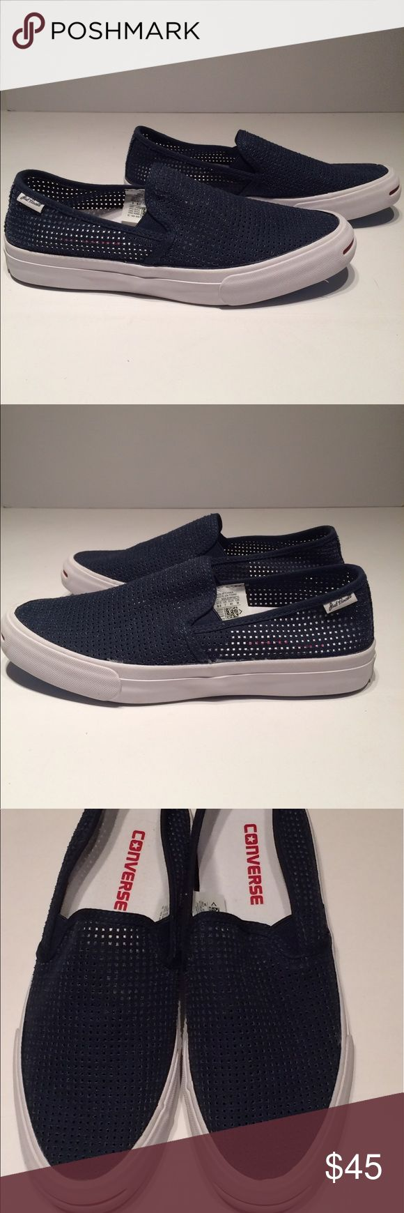 Converse JACK PURCELL JP II Slip On It's summertime... it's to hot, for tying laces, and you have places to be!  Slip these on to match with anything, from your best dress shorts to your favorite swim trunks, and everything in between! These even go great with a pair of khakis for those events where shorts won't cut it! Converse Shoes Loafers & Slip-Ons