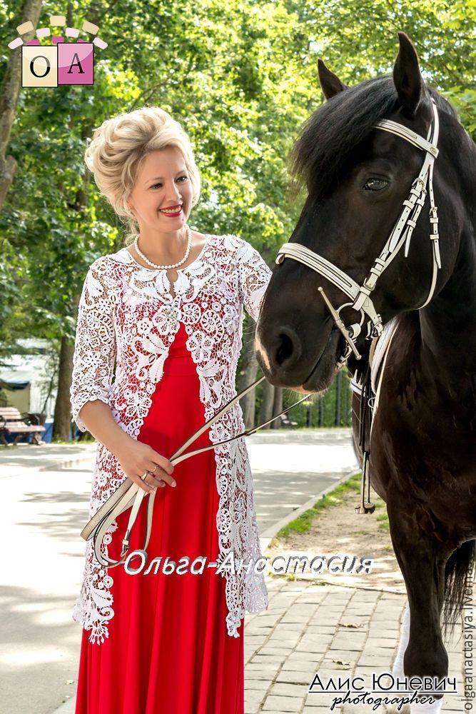 """Купить Кардиган """"Светлана"""",авторская работа.модель 2 - белый, кардиган на свадьбу, кружевной кардиган"""