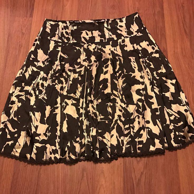 Apostrophe Women's Black & Gold Dressy Print Skirt NWT Size 12  | eBay