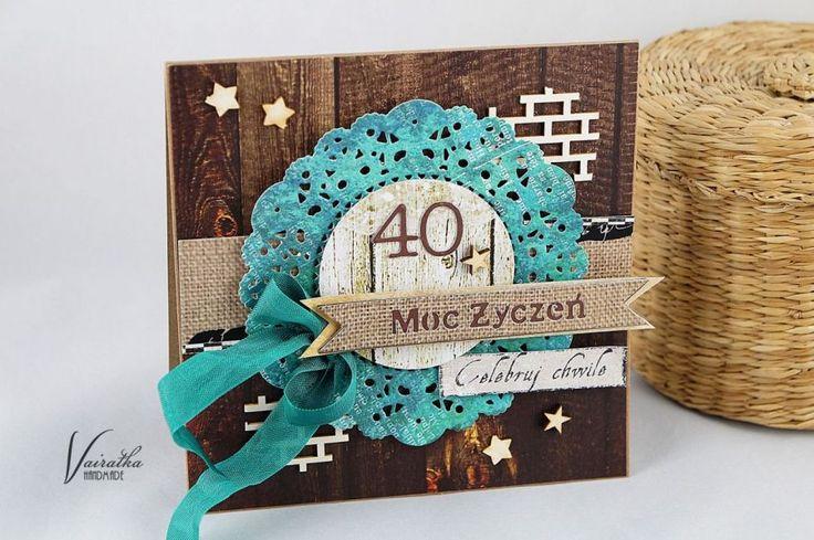 Moc życzeń – Kartki urodzinowe - kolor: kawowy, brązowy, turkusowy, wymiary: 13,5*13,5cm – Artillo