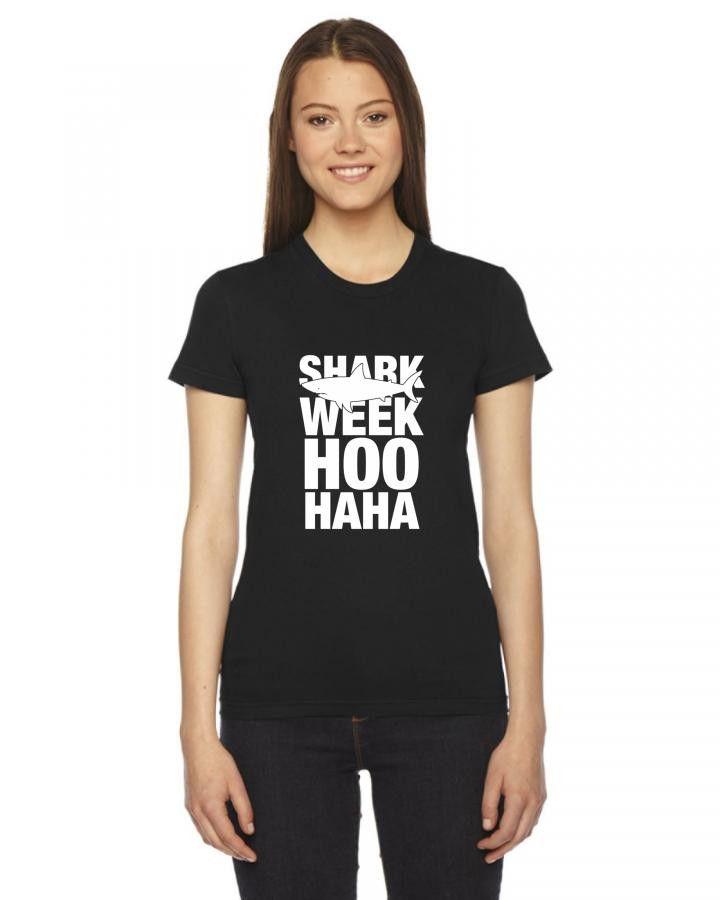 shark week hoo haha Ladies Fitted T-Shirt