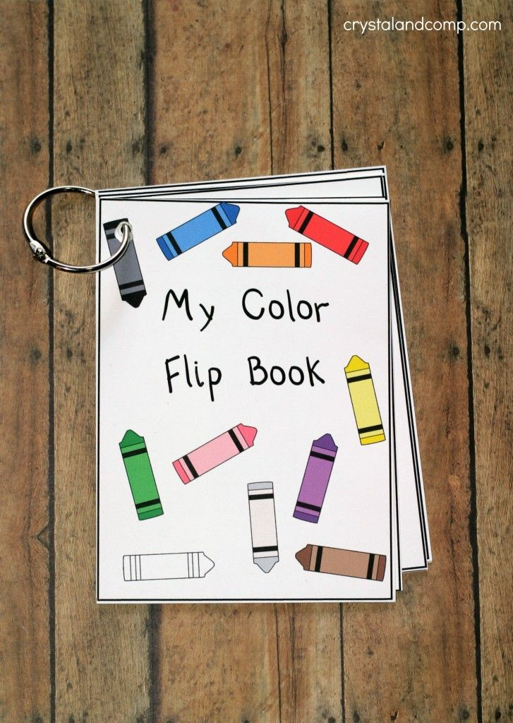 teach kids their colors with a free printable