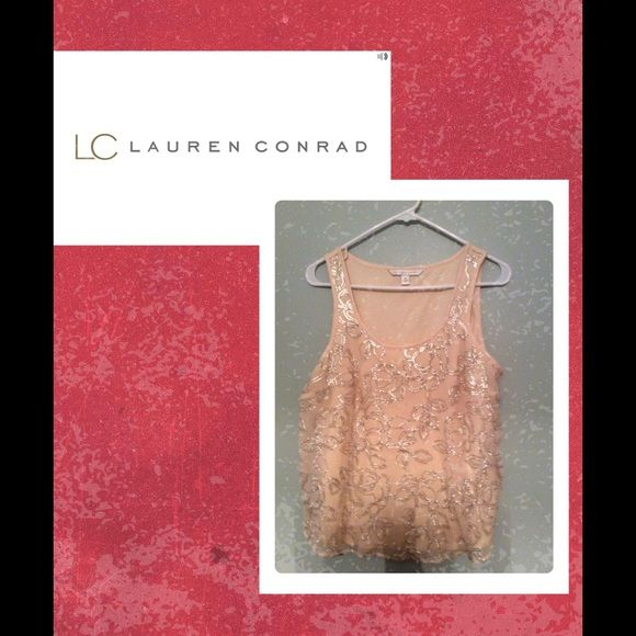 LC Lauren Conrad Pink Blush Dressy Tank I never wore this, but super cute. LC Lauren Conrad Tops Blouses