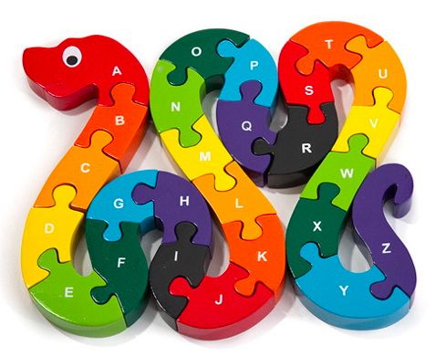 Alphabet Snake Puzzle, $28 | 40 Children's Toys That Give The Gift Of Learning