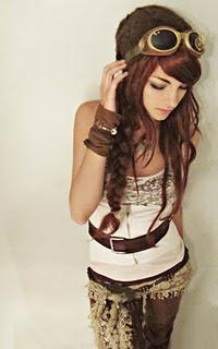 Crazy sunglassesHair Colors, Steampunkfashion, Steampunk Fashion, Style, Self Portraits, Steampunk Outfit, Steam Punk, Portraits Photography, Steampunk Girl