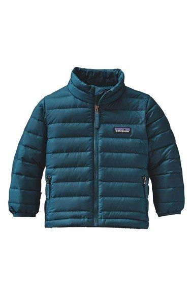 Patagonia sweater jacket for toddlers | deep sea blue