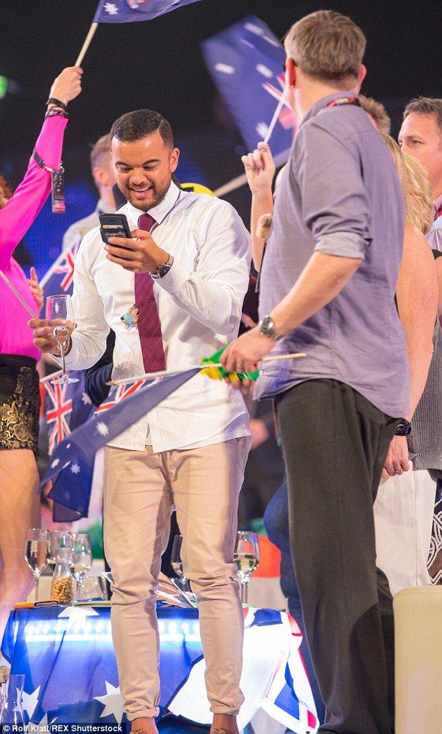 Guy Sebastian during Eurovision Song Contest 2015...
