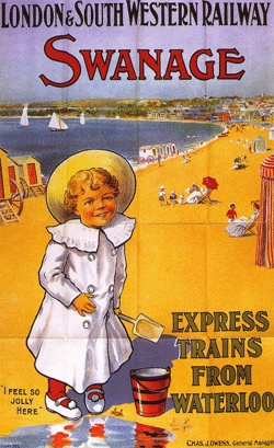 Railway poster for Swanage