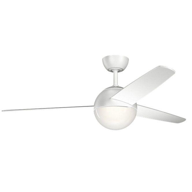 "56"" Retro Modern Globe Ceiling Fan matte_white"