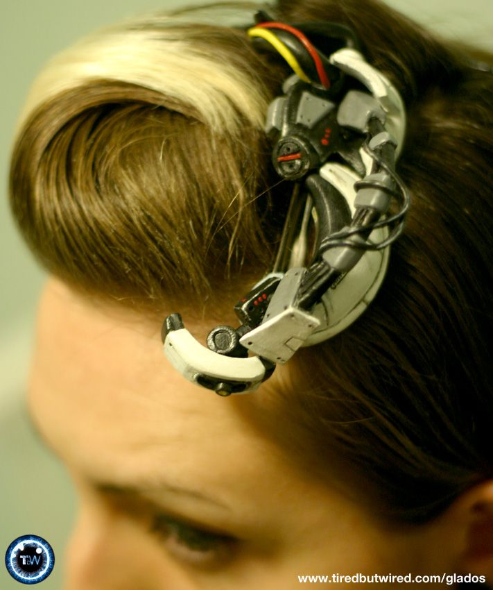 Portal hair accessory.  I don't think anyone would want to take a test from you if you wore this.