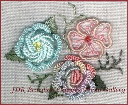 Free Tatting Patterns Beginners | Brazilian Embroidery Sampler Block 5 - a great way to learn Brazilian ...