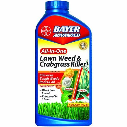 Bayer Advanced 704140A All-In-One Lawn Weed and Crabgrass Killer Concentrate, 32-Ounces by Bayer Advanced, gets rid of dandelions and weeds without hurting your grass