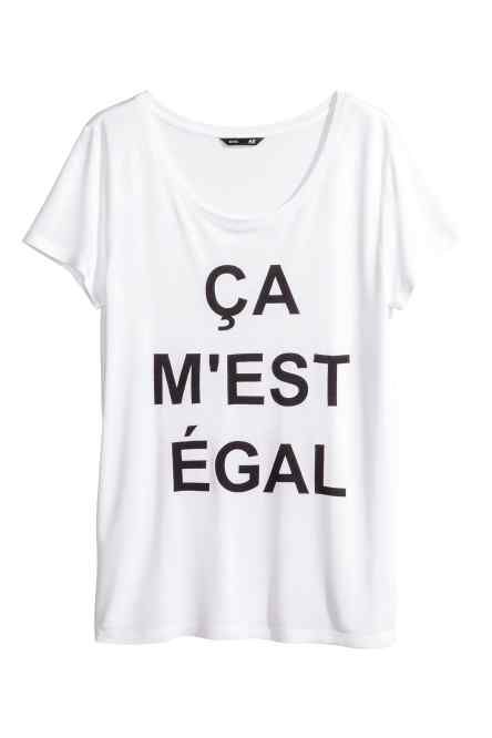 Idée de tshirt pour le bureau >> Top en jersey   H&M