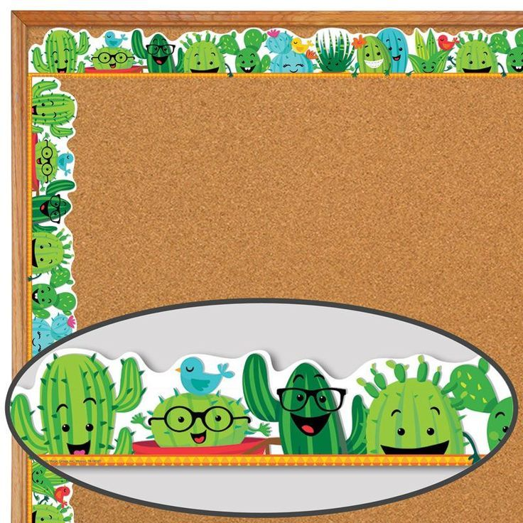 Classroom Decoration Cactus ~ A sharp bunch cactus friends deco trim cacti
